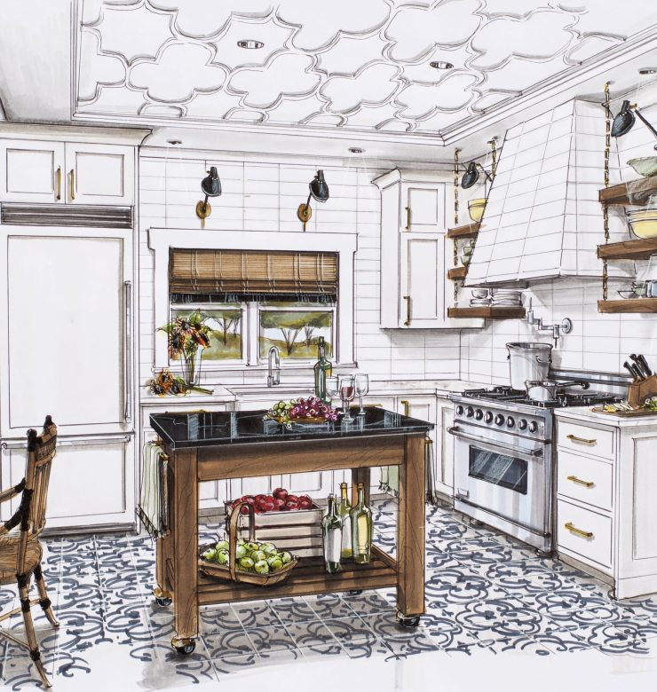 Napa Valley Traditional Home 2015 Kitchen