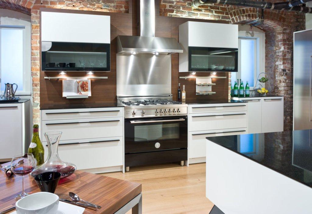 Charming Stainless Steel U0026 Black Kitchen