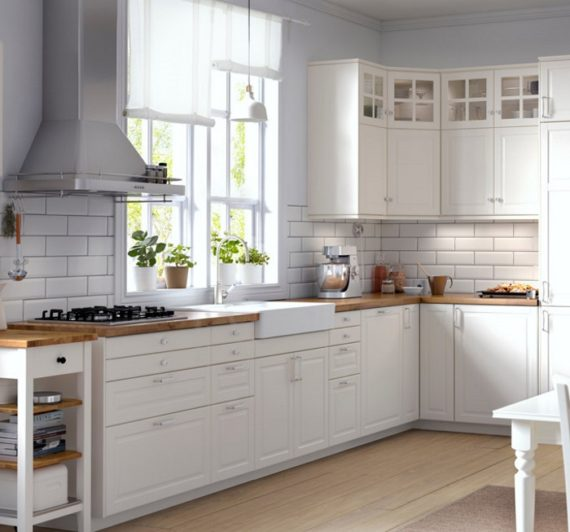 Ikea Kitchens in white, beautiful and economic kitchen