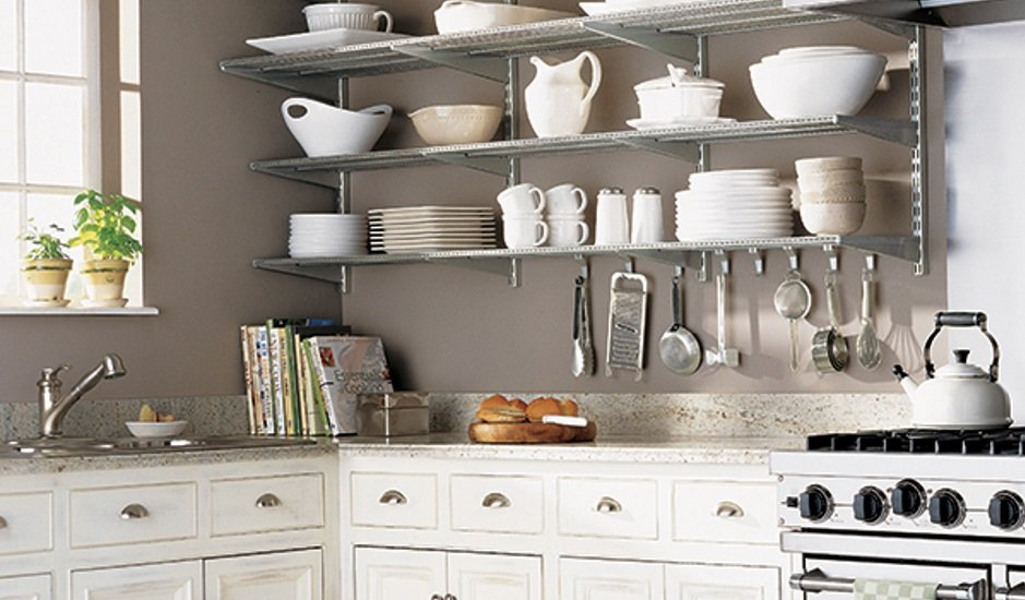 The Container Store kitchen shelves