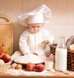 Baby in Kitchen Credit: BHM Pics